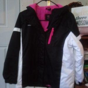 ❄Girls Swiss Tech Winter Coat! Pink/Black/White!
